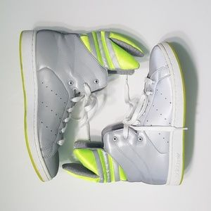 RARE Used Jeremy Scott Mid Reflective Sneakers